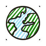 Icone terre valeurs