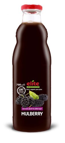 Bouteille 700 ml Elite naturel 100% pur jus bio Mulberry