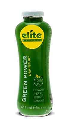 Bouteille 414 ml Elite naturel Detox - Green Power